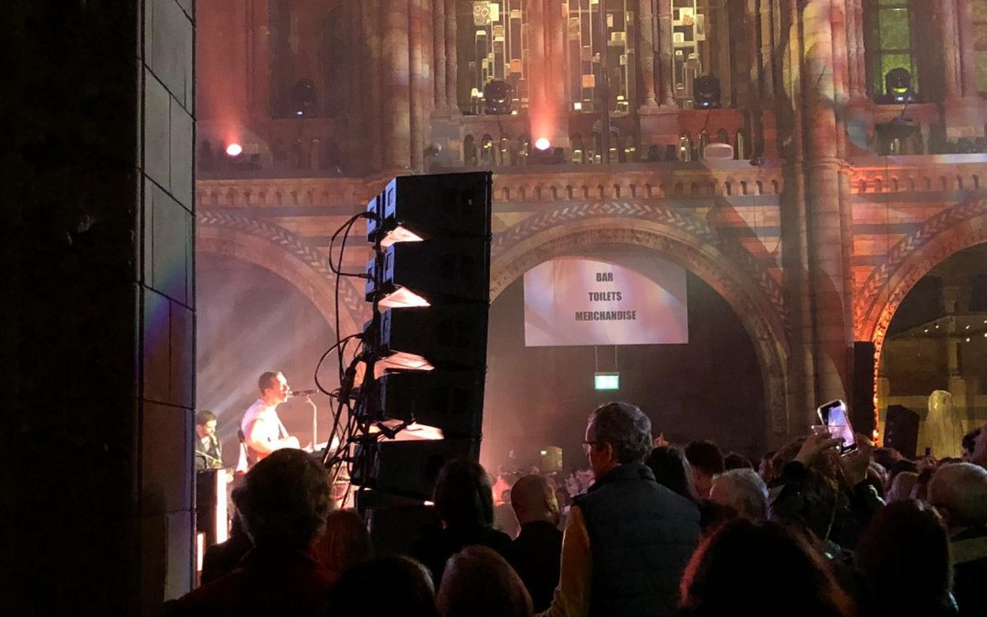 ShowMed supporting Coldplay's album launch at the Natural History Museum in London.